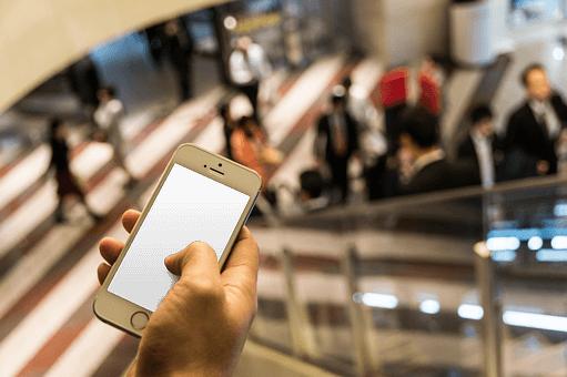 Smartphone Einkaufszentrum