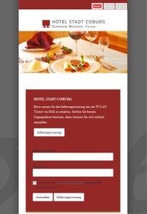 CONTELIO Portal Hotel Stadt Coburg Mobil