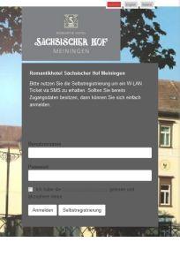CONTELIO Portal Hotel Sächsischer Hof Mobil